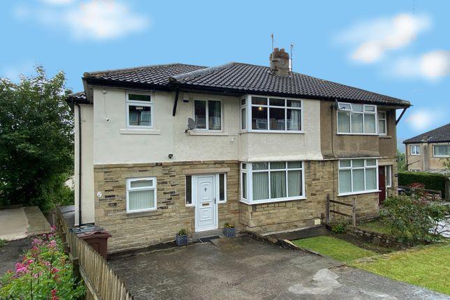 Thumbnail Semi-detached house for sale in Ashfield Grove, Heaton, Bradford