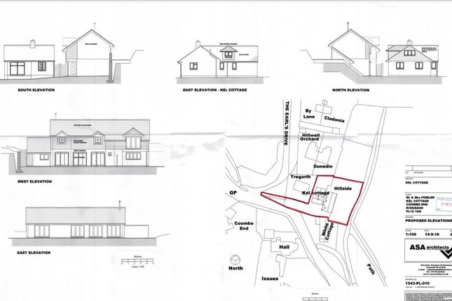 Plans 1 of Coombe End, Kingsand, Torpoint PL10