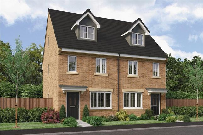 "Thumbnail Semi-detached house for sale in ""The Tolkien"" At Ladyburn Way, Hadston, Morpeth NE65, Hadston,"