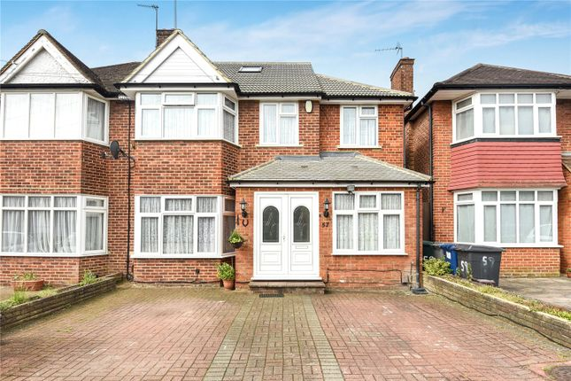 Thumbnail Semi-detached house for sale in Francklyn Gardens, Edgware, Middlesex