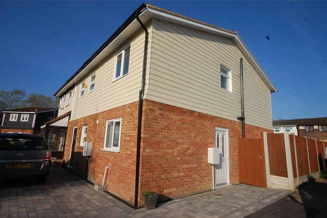 Thumbnail End terrace house for sale in Voysey Gardens, Basildon, Essex