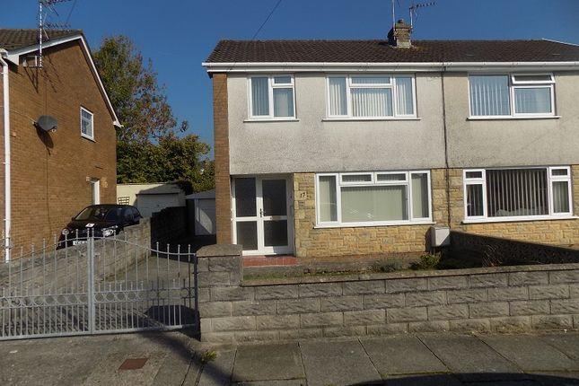 Thumbnail Semi-detached house for sale in Maes Y Wern, Pencoed, Bridgend.