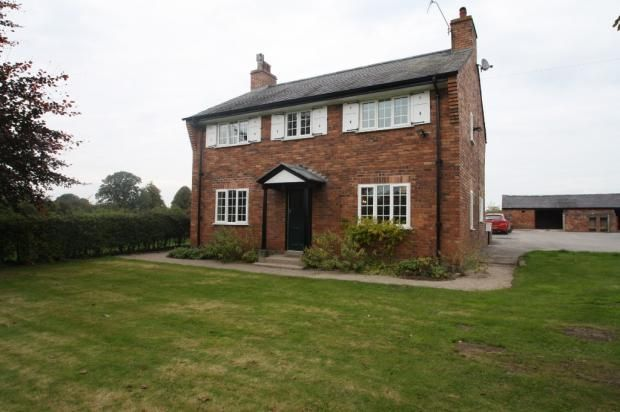Thumbnail Detached house to rent in Hall Lane, Haughton, Tarporley
