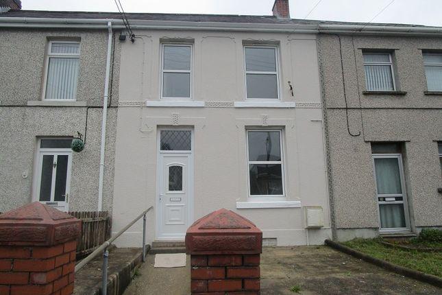 Thumbnail Terraced house for sale in Cwmphil Road, Lower Cwmtwrch, Swansea.