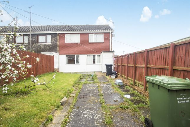 Thumbnail End terrace house for sale in Post Mill, King's Lynn