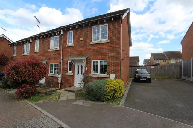 Thumbnail End terrace house to rent in Primrose Way, Minster On Sea, Sheerness