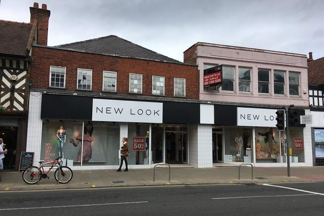 Retail premises to let in 79-81, Foregate Street, Chester