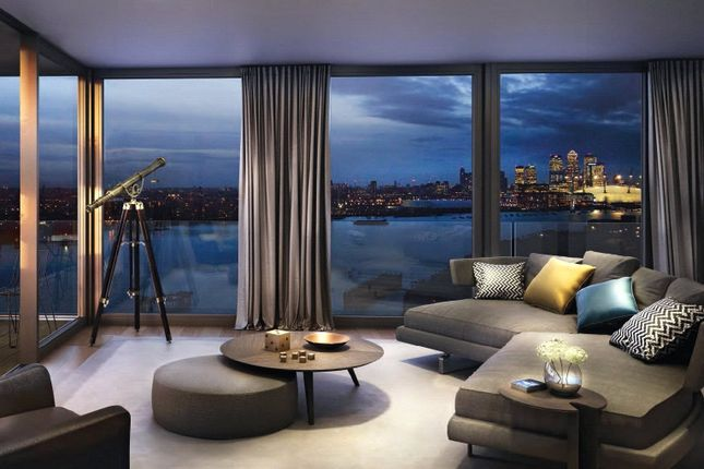 Thumbnail Flat for sale in Royal Wharf Walk, London