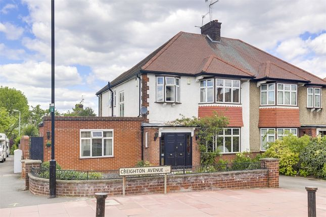 Thumbnail End terrace house for sale in Creighton Avenue, Muswell Hill, London