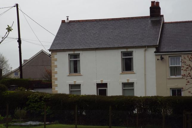 Thumbnail Semi-detached house for sale in Bethesda Road, Pontyberem, Llanelli