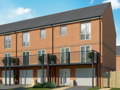 Thumbnail Terraced house for sale in Connolly Way, Chichester