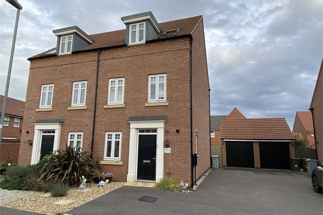 Thumbnail Semi-detached house for sale in Hunters Road, Fernwood, Newark, Nottinghamshire.