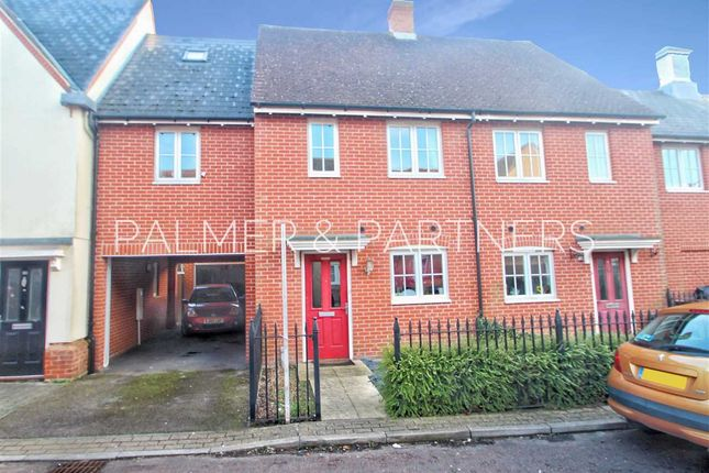 Thumbnail Terraced house for sale in Rose Allen Avenue, Colchester
