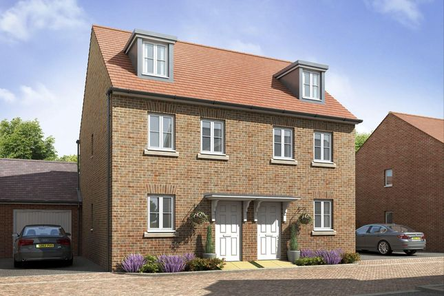 "Thumbnail Terraced house for sale in ""Kirkwood"" at Locksbridge Road, Picket Piece, Andover"