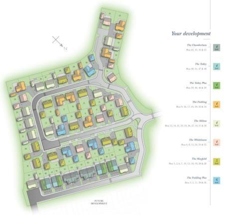 Site Plan of Heatherley Wood Alderley Park, Nether Alderley, Cheshire SK10