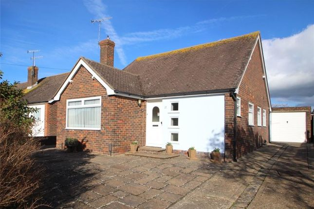 Thumbnail Detached bungalow for sale in Edwin Close, Sompting, West Sussex