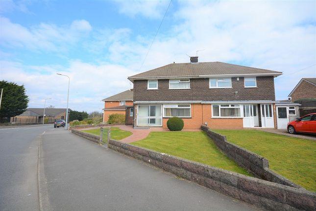 Thumbnail Semi-detached house for sale in Burnham Avenue, Llanrumney, Cardiff.