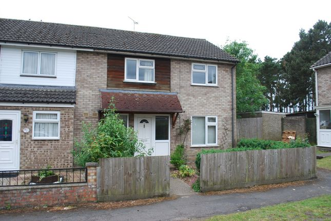 Thumbnail End terrace house to rent in Bracken Road, Thetford