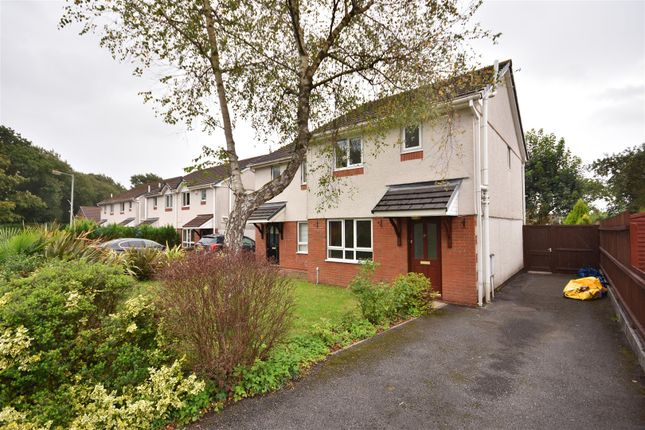 Thumbnail Semi-detached house to rent in Clos Canowen, Cwmrhydyceirw, Swansea