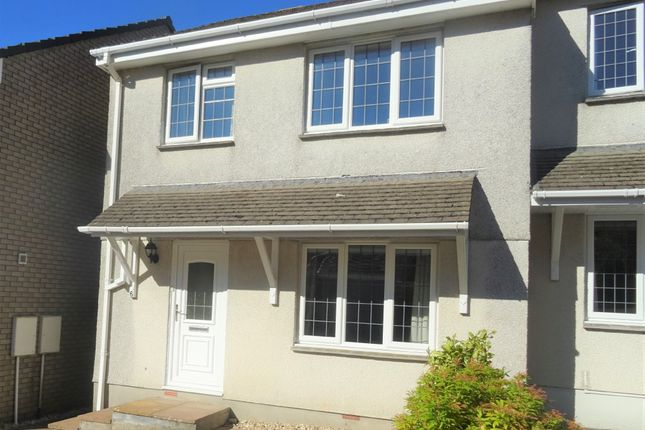 Thumbnail Semi-detached house to rent in Hazelmead, Liskeard