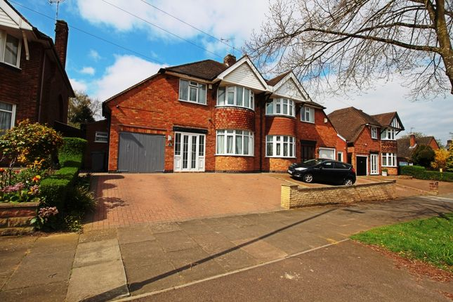 Thumbnail Semi-detached house for sale in Downing Drive, Leicester