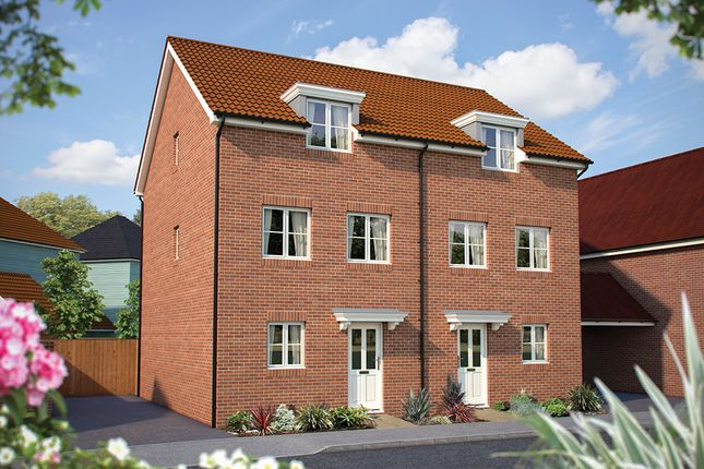 """Thumbnail Semi-detached house for sale in """"The Winchcombe"""" at Dragonfly Lane, Cringleford, Norwich"""