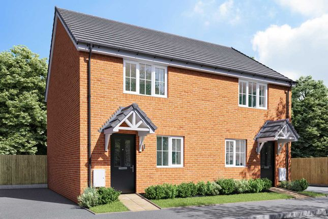 "Thumbnail Semi-detached house for sale in ""The Hardwick"" at Thorney Green Road, Stowupland, Stowmarket"