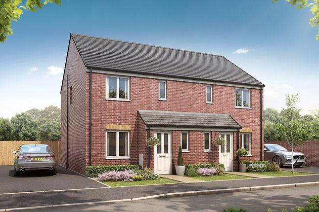 "3 bed semi-detached house for sale in ""The Hanbury"" at Bridgend Road, Bryncae, Llanharan, Pontyclun CF72"