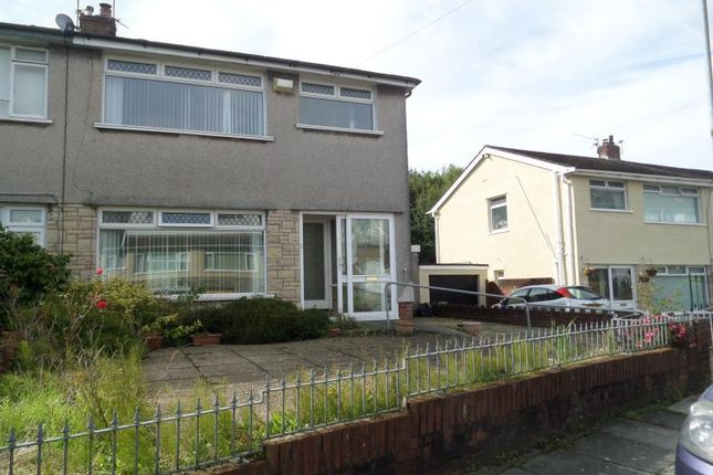 Thumbnail Semi-detached house to rent in Llanover Road, Cardiff
