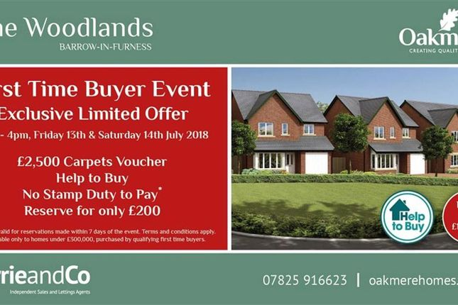 Thumbnail Semi-detached house for sale in The Brathay - Plot 33, Barrow-In-Furness, Cumbria