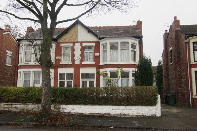 Thumbnail Semi-detached house for sale in Wood Road North, Old Trafford, Manchester