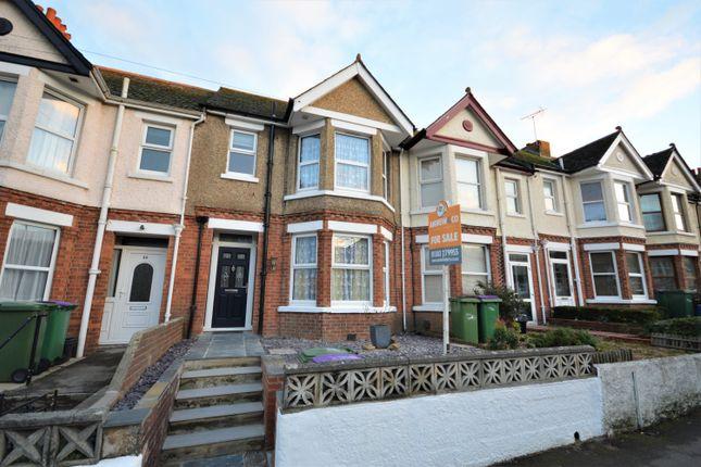 Thumbnail Terraced house for sale in Ashley Avenue, Cheriton, Folkestone