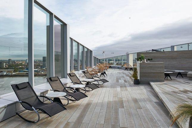 Roof Terrace of No.1, Upper Riverside, Cutter Lane, Greenwich Peninsula SE10