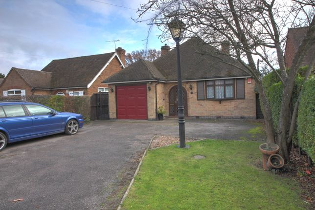 Thumbnail Bungalow for sale in Hinckley Road, Leicester Forest East, Leicester