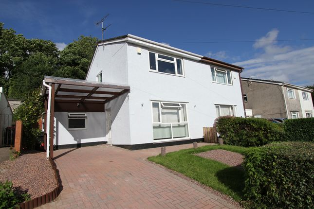 Thumbnail Semi-detached house for sale in Parklands Close, Rogerstone, Newport
