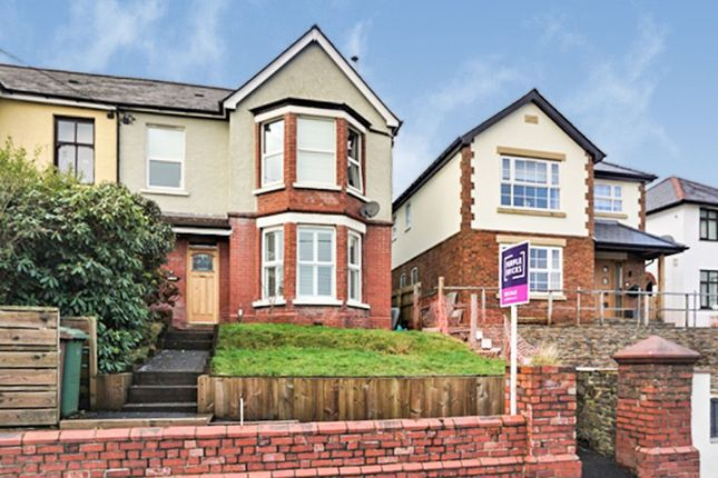 Thumbnail Semi-detached house for sale in Hillside Park, Bargoed