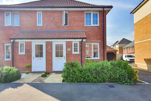 Thumbnail Semi-detached house to rent in Central Boulevard, Aylesham, Canterbury