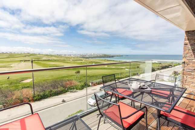 Thumbnail Flat for sale in Azure, 20 Headland Road, Newquay, Cornwall