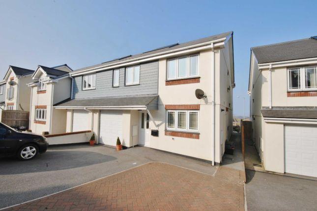 Thumbnail Semi-detached house to rent in Keston Gardens, Wadebridge