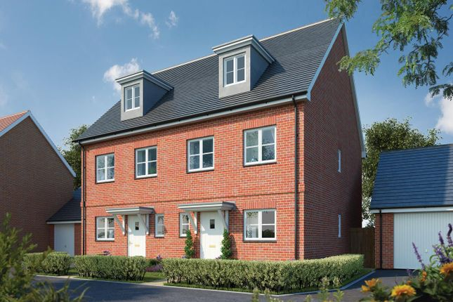 Thumbnail Semi-detached house for sale in Canalside View, Broughton, Aylesbury