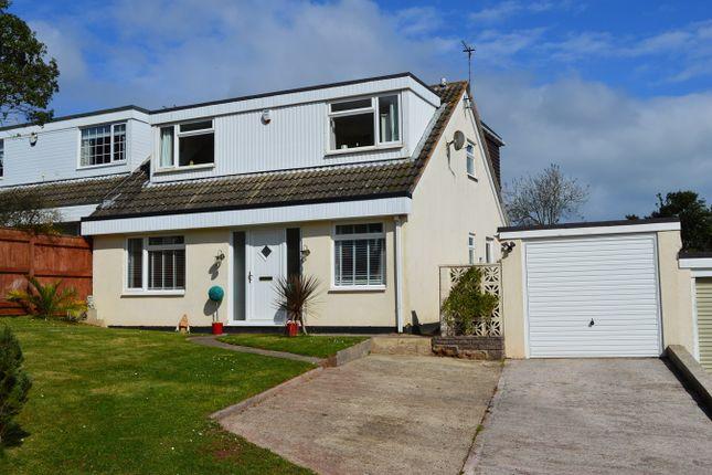 Thumbnail Semi-detached house for sale in Pentridge Avenue, Livermead, Torquay