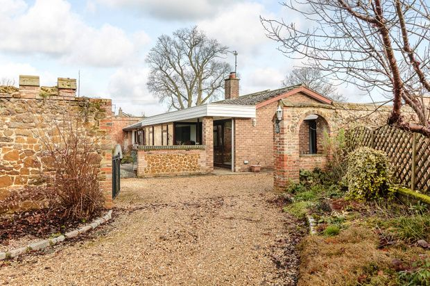 Thumbnail Detached bungalow for sale in The Walled Garden, New Road, North Runcton, King's Lynn