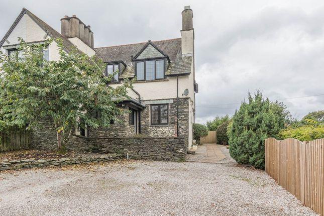 Thumbnail Semi-detached house for sale in Blencathra, Including Building Plot, Park Road, Windermere