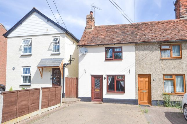Thumbnail Terraced house for sale in Back Road, Writtle, Chelmsford