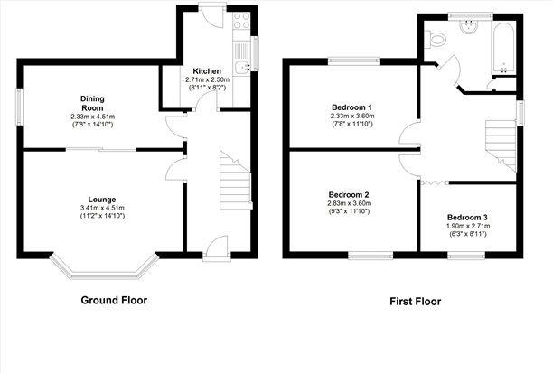 Floor Plan of St Thomas Road, Lytham St. Annes FY8