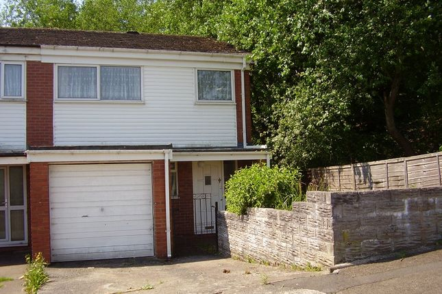 Thumbnail End terrace house to rent in Heol Maes Y Gelynen, Morriston, Swansea.