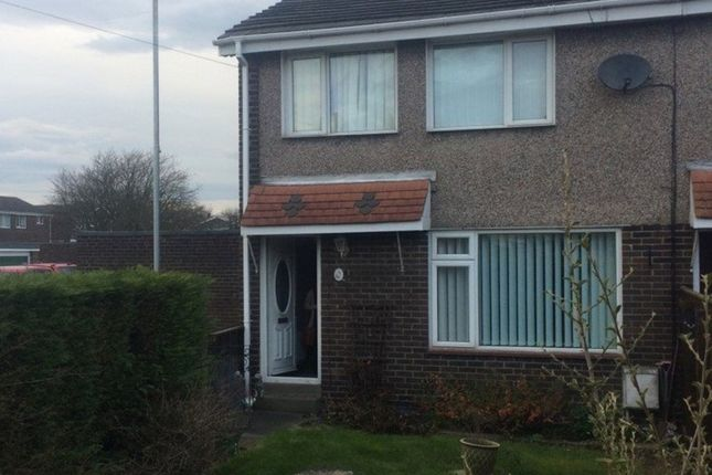 Thumbnail End terrace house to rent in Mile Road, Widdrington, Morpeth
