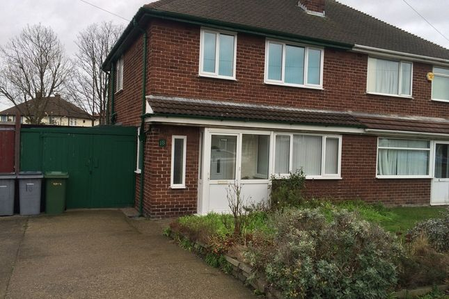 Thumbnail Semi-detached house to rent in Ravenhill Crescent, Leasowe, Wirral