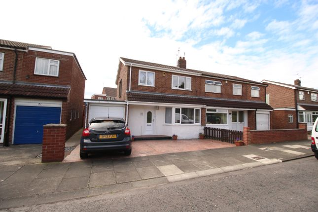 Thumbnail Semi-detached house for sale in Acomb Crescent, Fawdon, Newcastle Upon Tyne