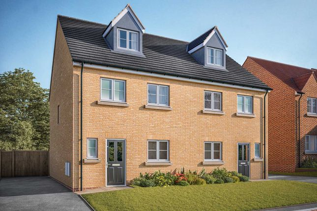 "Thumbnail Semi-detached house for sale in ""The Aslin"" at Doncaster Road, Hatfield, Doncaster"